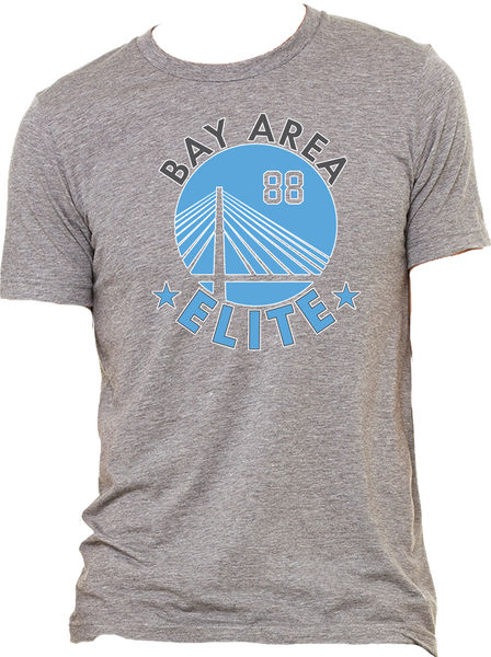 Bay Area Elite Triblend Logo Tee w/ Player Number