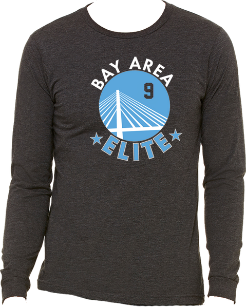 Bay Area Elite Long Sleeve Triblend Logo Tee w/ Player Number