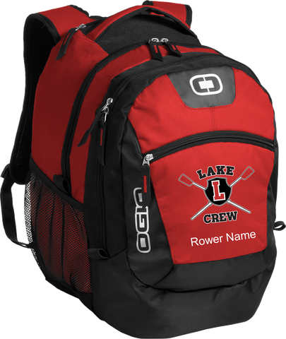 Lake Rowing Embroidered Backpack with Rowers Name