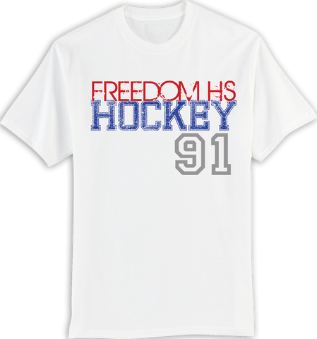 Freedom Hockey Large Number T-shirt