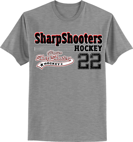 Sharp Shooters Old Time T-shirt with Player Number