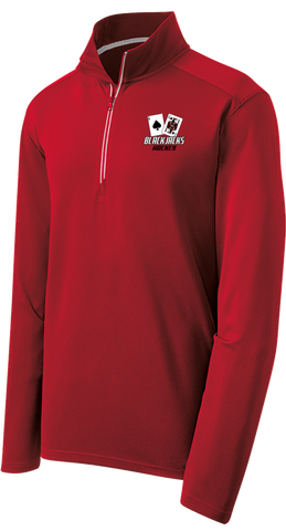 Blackjacks Hockey Sport-Wick Textured 1/4-Zip Pullover