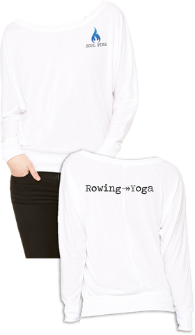 SOUL FIRE Rowing → Yoga Flowy Off the Shoulder Tee
