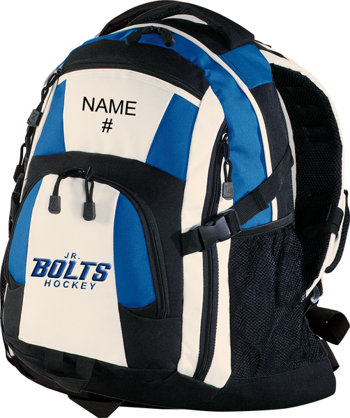 Jr. Bolts Backpack w/ Player Name and Number