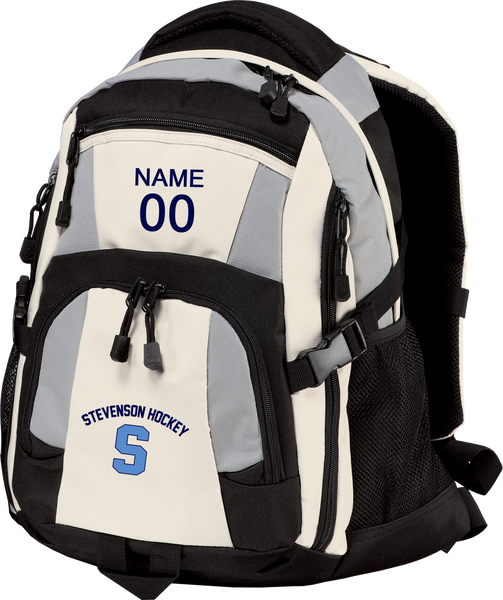 Livonia Stevenson Hockey Backpack w/ Player Name and Number