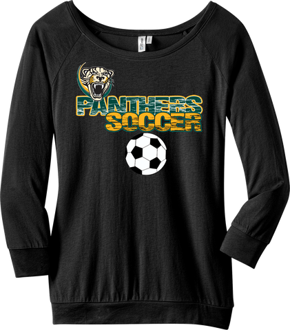 Palm Beach Panthers Soccer Ladies 3/4 Sleeve Raglan