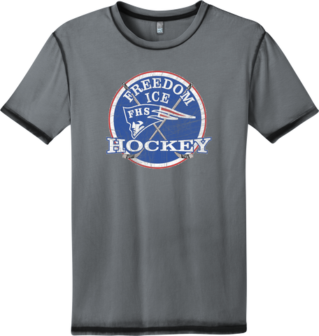 Freedom Hockey Distressed Faded T-shirt