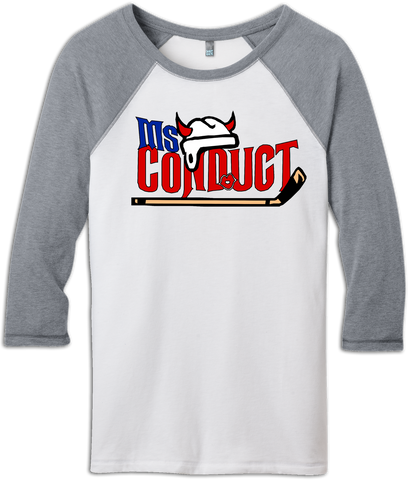 Ms. Conduct 3/4-Sleeve Raglan Tee