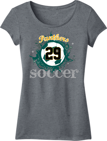 Palm Beach Panthers Soccer Printed Girly Crew Tee w/ Player Number