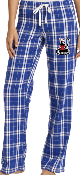 Ms. Conduct Ladies Flannel Plaid Pant