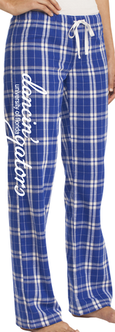 Dancin' Gators Ladies Flannel Plaid Pants