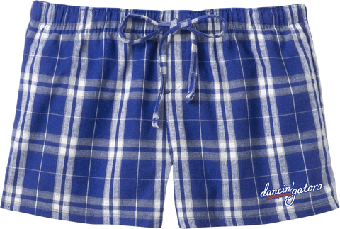 Dancin' Gators Juniors Flannel Plaid Shorts