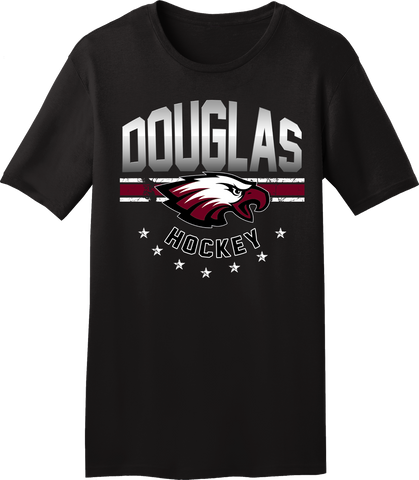 Eagles Hockey Gradiant T-shirt with Player Number