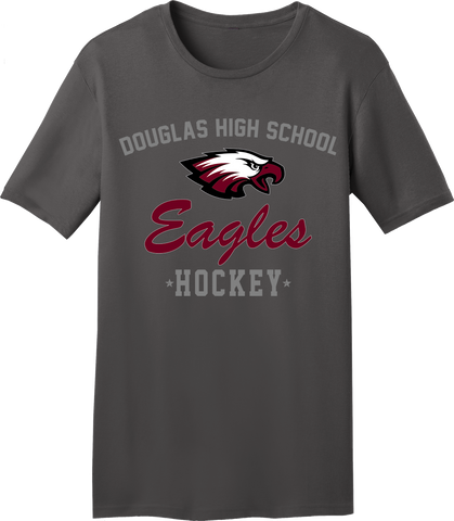 Eagles Hockey Charcoal Gray T-shirt with Player Number