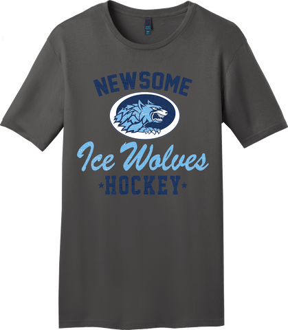 Newsome Charcoal Gray T-shirt with Player Number