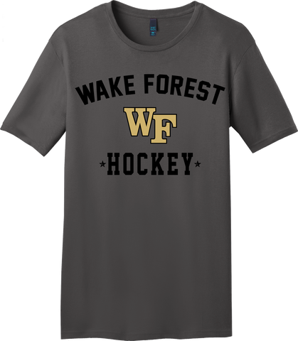 Wake Forest Charcoal Gray T-shirt with Player Number