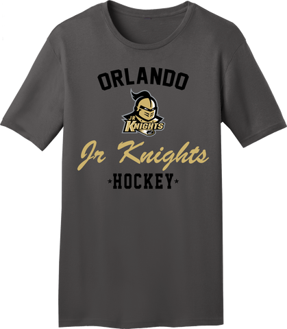 Jr. Knights Charcoal Gray T-shirt with Player Number