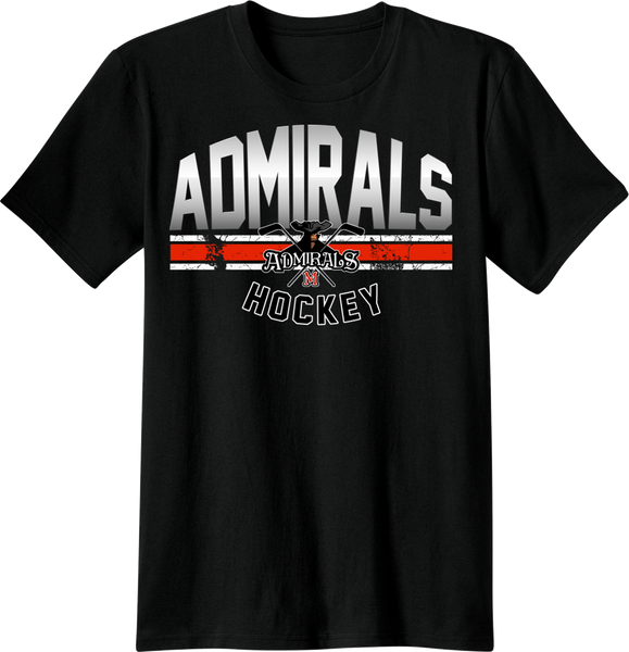 Admirals Hockey Gradient T-shirt with Player Number
