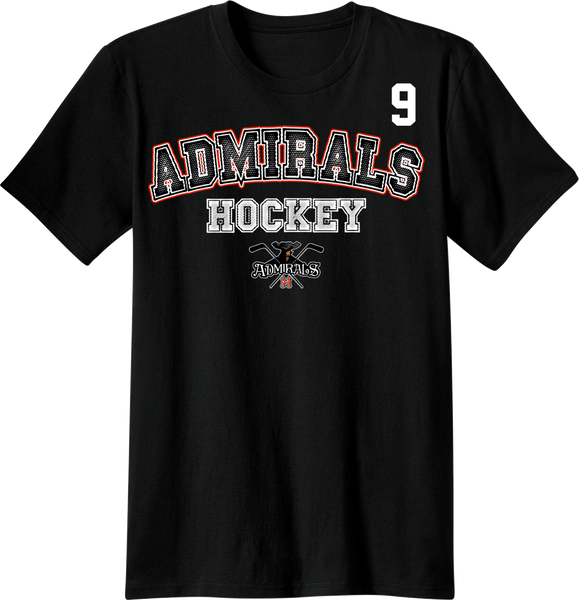Admirals Hockey Accelerator T-shirt with Player Number