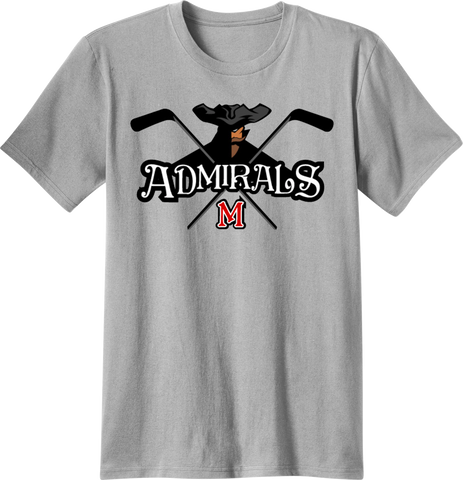 Admirals Hockey Logo T-shirt with Player Number