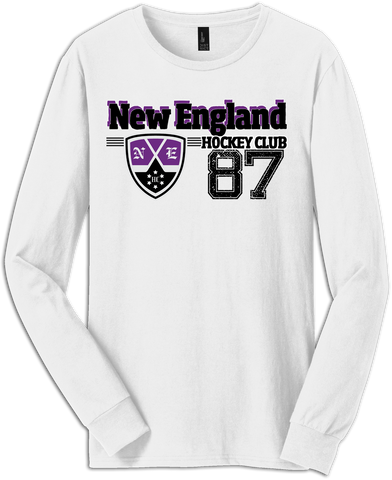 New England Hockey Old Time Check Long Sleeve Tee