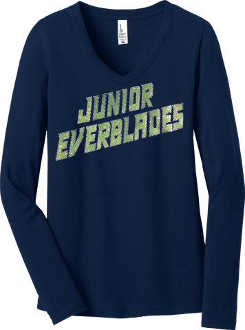Jr. Everblades Ladies Long Sleeve Glitter T-Shirt