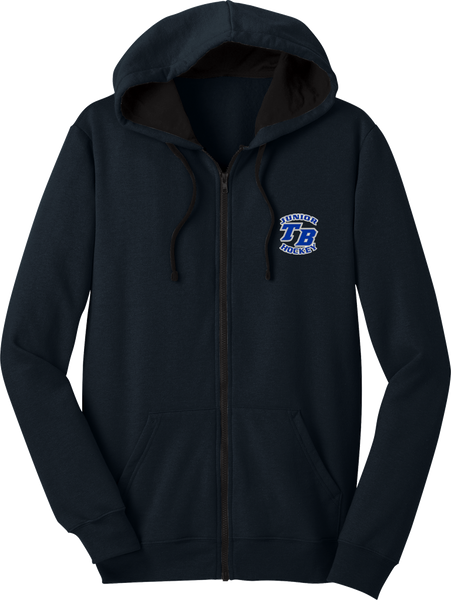 Tampa Bay Juniors Full Zip Contrast Fleece Hoodie