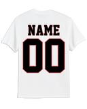 Gulf Coast Flames Faded Logo T-shirt with Player Number