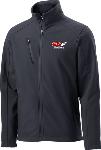 Gulf Coast Flames Mens Welded Soft Shell Jacket