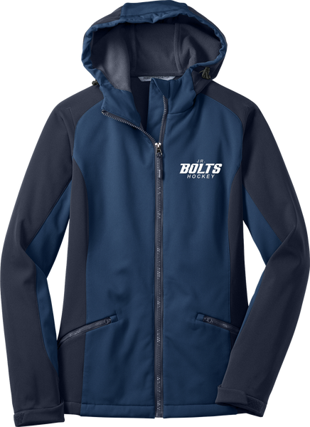 Jr. Bolts Ladies Gradient Hooded Soft Shell Jacket