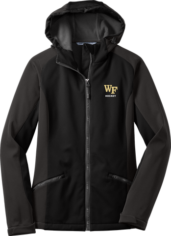 Wake Forest Ladies Gradient Hooded Soft Shell Jacket