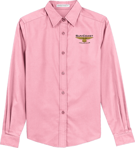 Sun Coast Jaguar Club Ladies Easy Care Long Sleeve Shirt