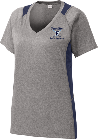Franklin Field Hockey Ladies Colorblock Contender V-Neck Tee