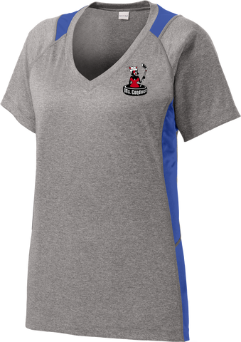 Ms. Conduct Ladies Colorblock Contender V-Neck Tee