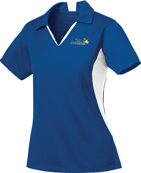 Jaguar Club of Southwest Florida Ladies Side Blocked Micropique Polo