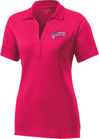 Sarasota Vipers Baseball Ladies Pink Active Heather Polo