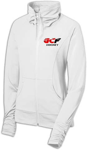 Gulf Coast Flames Ladies Sport-Wick Stretch Full-Zip Jacket