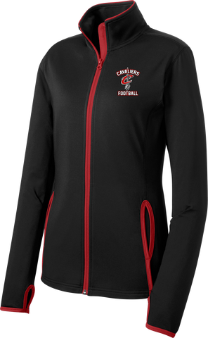 Cavaliers Football Ladies Sport-Wick Stretch Contrast Full-Zip Jacket