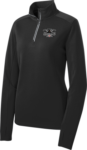 Admirals Hockey Ladies Sport-Wick Textured 1/4-Zip Pullover