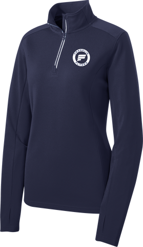 Franklin Flyers Ladies Sport-Wick Textured 1/4-Zip Pullover