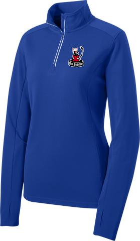 Ms. Conduct Ladies Sport-Wick Textured 1/4-Zip Pullover