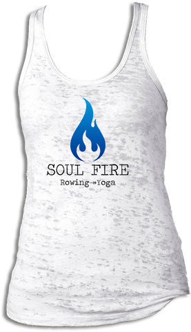 SOUL FIRE Rowing → Yoga Burnout Racerback Tank