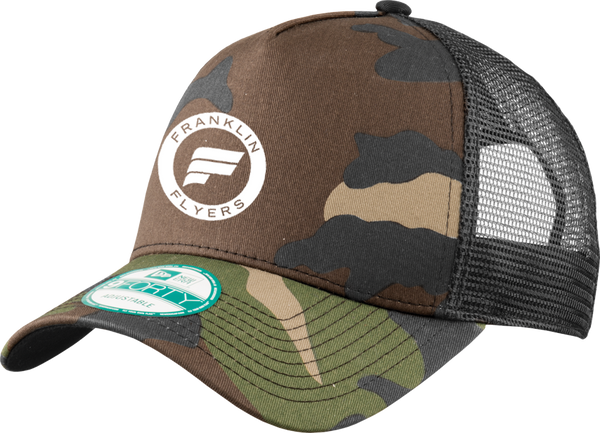 Franklin Flyers Hockey NewEra Snapback Trucker Camo Cap