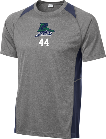 Jr. Everblades Heather Colorblock Contender Tee w/ Player Number