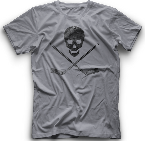 Skull and Cross Sticks T-Shirt  HEATHER