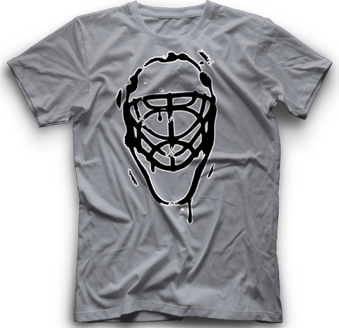 Ice Melting Mask T-Shirt  -  HEATHER