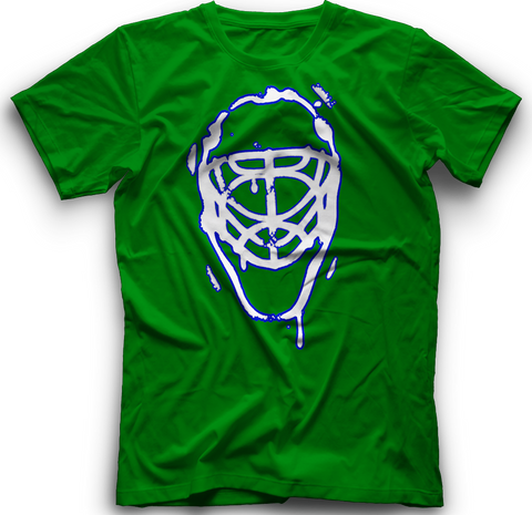 Ice Melting Mask T-Shirt  -  GREEN