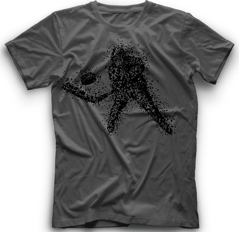 Snow Shower Hockey T-Shirt - Charcoal