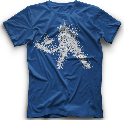 Snow Shower Hockey T-Shirt - Light Royal