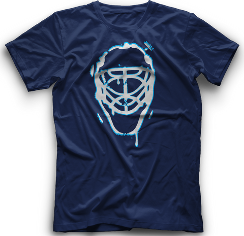 Ice Melting Mask T-Shirt  -  NAVY